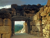 Mycenae. Lion Gate from inside