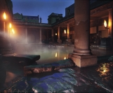 Roman baths. At Night
