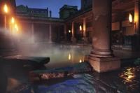 Roman baths. At Night